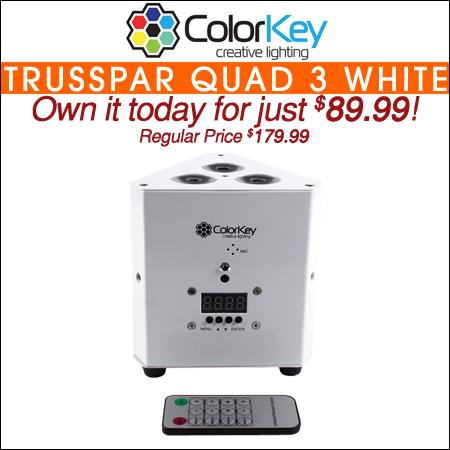 ColorKey TrussPar QUAD 3 White