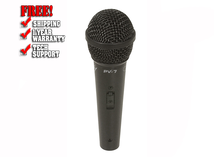 Peavey PV 7 Microphone with XLR to XLR Cable