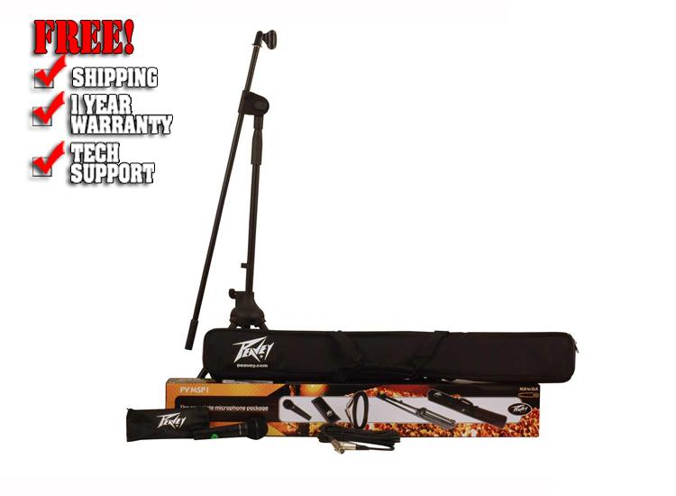 Peavey PV MSP1 XLR Dynamic Cardioid Microphone with Accessories