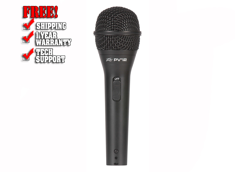 Peavey PVi2 Cardioid Unidirectional Dynamic Vocal Microphone with XLR Cable