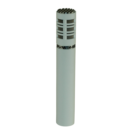 Peavey PVM 480 White Super Cardioid Directional Microphone
