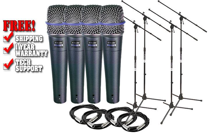 Shure Beta 57A Microphone Pack