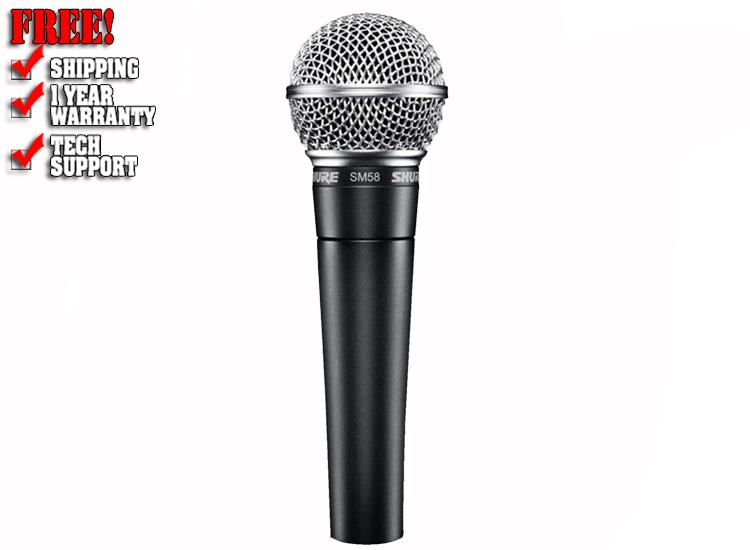 Shure SM58-CN Dynamic Vocal Microphone w/ XLR Cable
