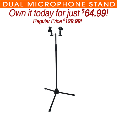 Dual Microphone Stand