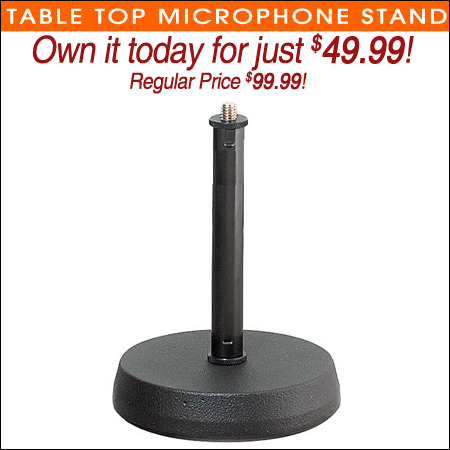 Table Top Microphone Stand