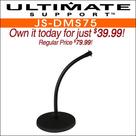 Ultimate Support JS-DMS75 Desktop Gooseneck Microphone Stand