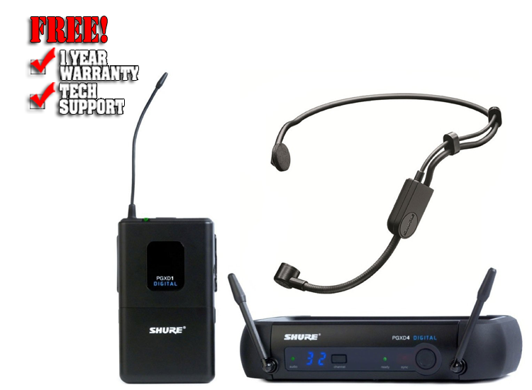 Shure PGXD14/PGA31 Digital Wireless Headset Microphone System