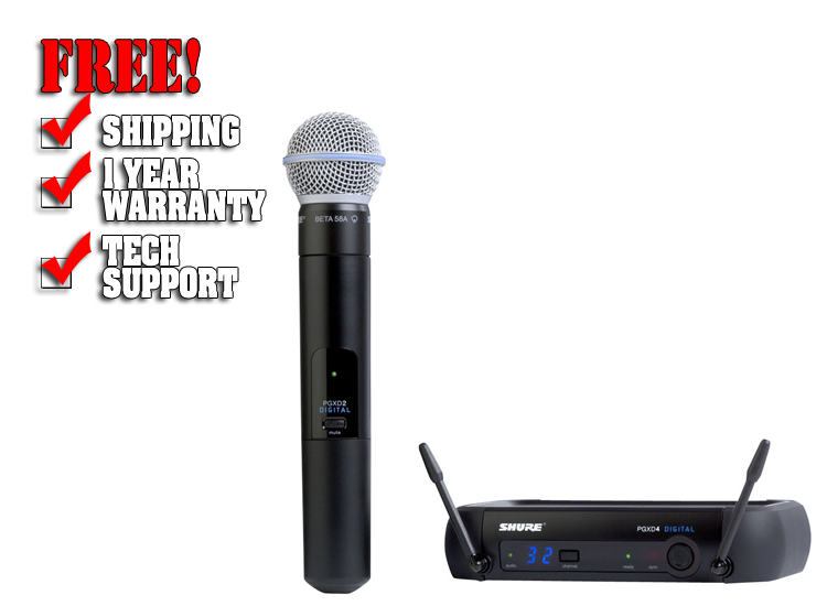 Shure PGX Digital Handheld Wireless Microphone System with Beta 58A