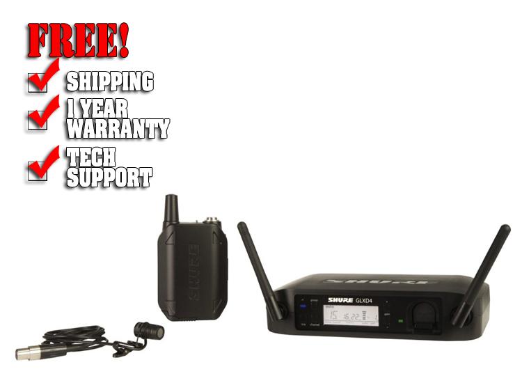 Shure GLXD14R/85 Wireless Lavalier Microphone System