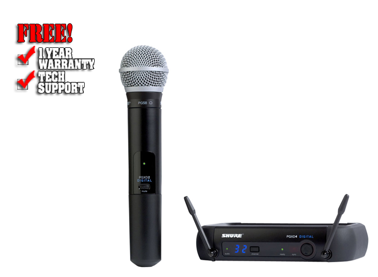 Shure PGX Digital Handheld Wireless Handheld Microphone System with PG58