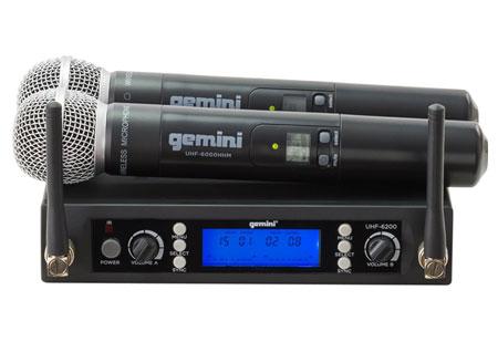 Gemini UHF-6200M UHF Dual Handheld Wireless Mic