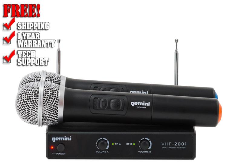 Gemini VHF-02M VHF Dual Wireless Handheld Mic