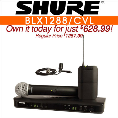 Shure BLX1288/CVL Combo Wireless System w/ Handheld & Lavalier