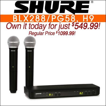 Shure BLX288/PG58  - H9 Band