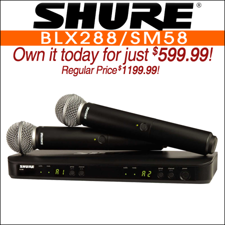 Shure BLX288/SM58 Dual SM58 Wireless Vocal System