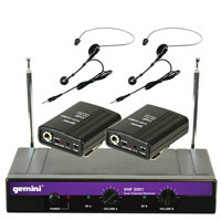 Gemini VHF-2001HL Dual VHF Wireless Headset & Lavalier System