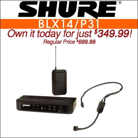 Shure BLX14/P31 Wireless Headset Microphone System w/ PGA31