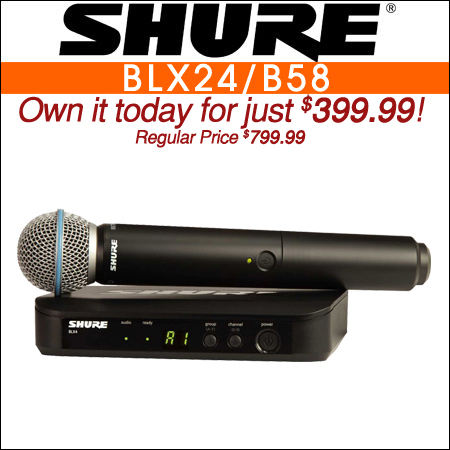 Shure BLX24 Wireless Handheld Mic System w Beta58