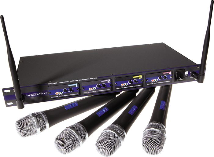 vocopro uhf 5800 wireless microphone chicago dj equipment 123dj. Black Bedroom Furniture Sets. Home Design Ideas
