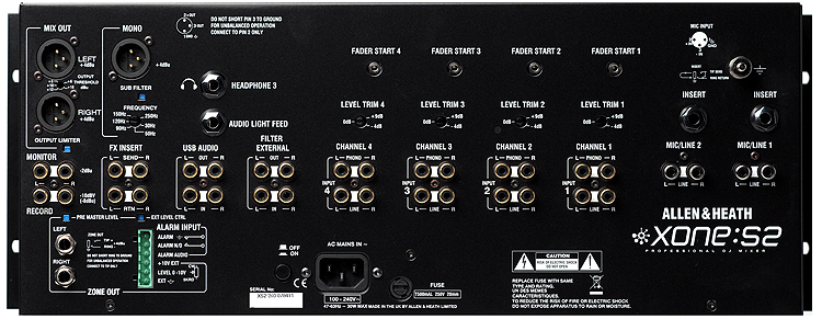 Allen Amp Heath Xones2 Rack Mount Dj Mixer