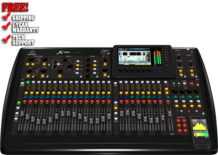 Behringer X32 Digital Mixer | Pro Mixers | Chicago DH Equipment | 123DJ