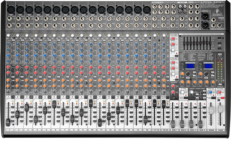 behringer sx2442fx console mixer features 16 mic inputs 8 stereo inputs and 4 buses give you. Black Bedroom Furniture Sets. Home Design Ideas