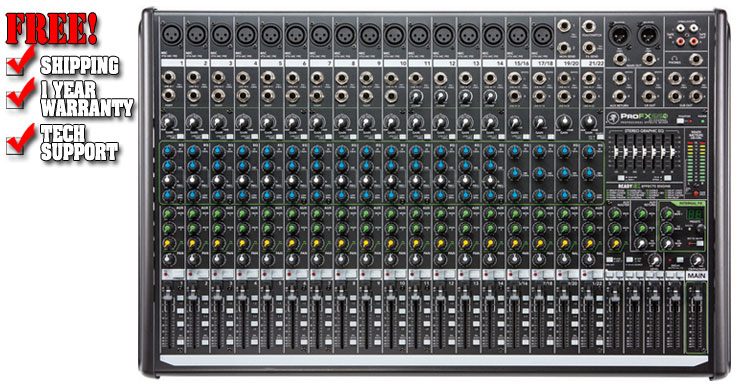 Mackie ProFX22v2 22-Channel 4-Bus FX Mixer with USB
