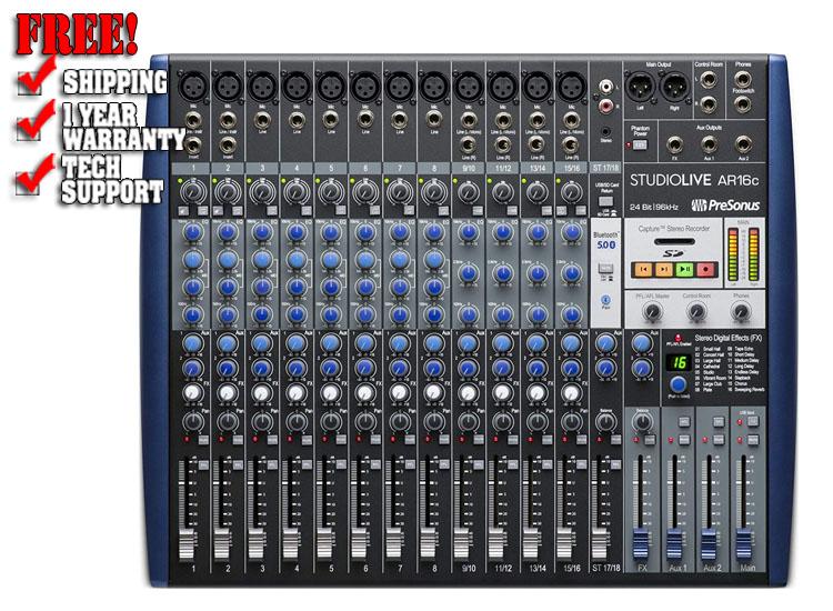 PreSonus StudioLive AR16c 18-Channel USB-C Hybrid Digital/Analog Performance Mixer