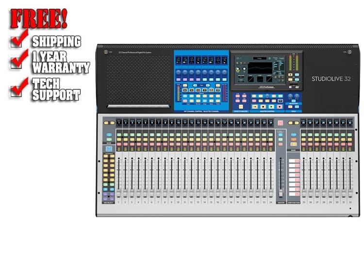 presonus studiolive 32 series iii digital mixer 40 input with motorized faders dj mixer. Black Bedroom Furniture Sets. Home Design Ideas