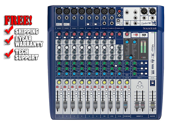 soundcraft signature 12 analog mixer dj mixer. Black Bedroom Furniture Sets. Home Design Ideas