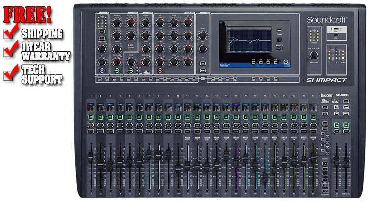 Soundcraft Digital Mixer 32 Channel Price : soundcraft si impact 32 channel digital mixer dj mixer ~ Russianpoet.info Haus und Dekorationen