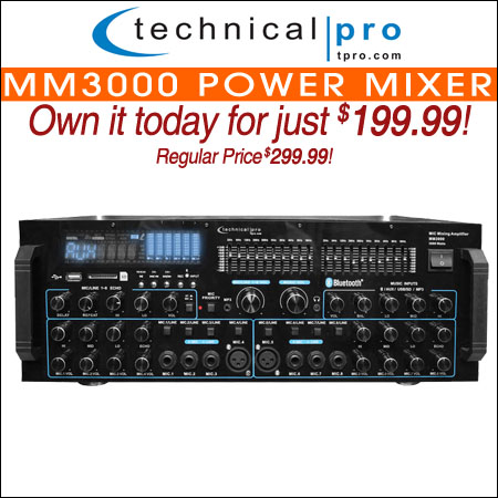 Technical Pro MM3000 Power Mixer
