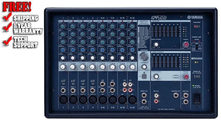 yamaha emx212s dj powered mixer dj audio chicago dj