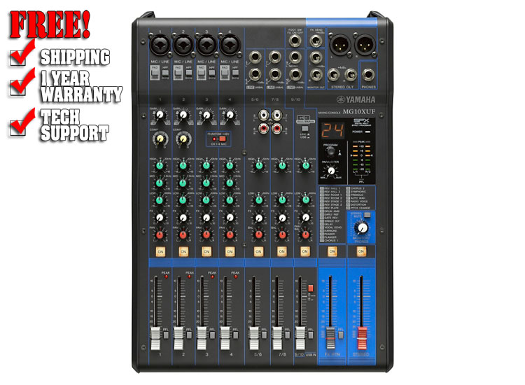 Yamaha MG10XUF 10-Channel Analog Mixer