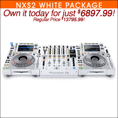 (2) Denon SC5000 Prime Media Players and X1800 Prime 4-Channel Club Mixer with Black ATA Cases Pro DJ Package