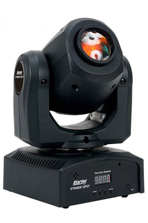 (2) American DJ Stinger Spot Mini Moving Heads Packaged with Carry Case