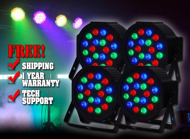 Four Pack LED Par64