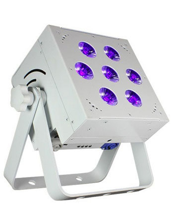 (8) Blizzard Lighting SkyBox EXA RGBAW+UV LED Par Lights & Case Package
