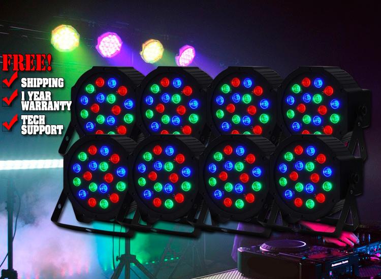 Eight Pack LED Par64