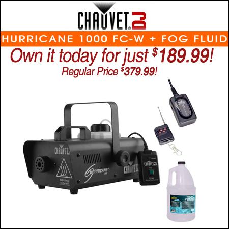 Chauvet DJ Hurricane 1000 FC-W + Fog Fluid