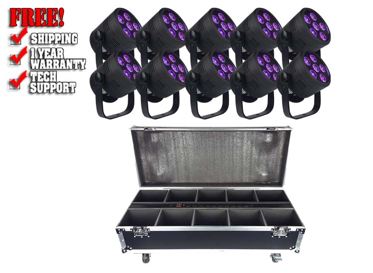 Blizzard Lighting LB Hex Unplugged (10-Pack) Pro Bundle with Case