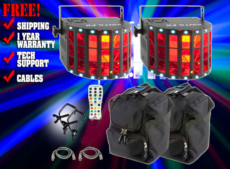 Chauvet DJ Kinta FX Compact Multi-Effect Light Duo Package