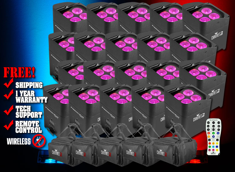 chauvet freedom par hex 4 twenty pack dj light packages dj lights chicago dj equipment 123dj. Black Bedroom Furniture Sets. Home Design Ideas