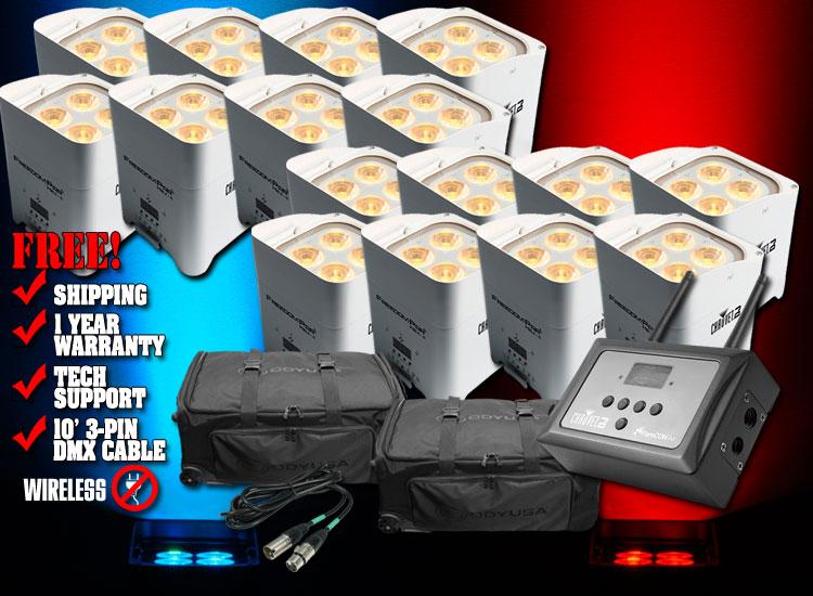 Chauvet Freedom Par Hex-4 White Deluxe Pack