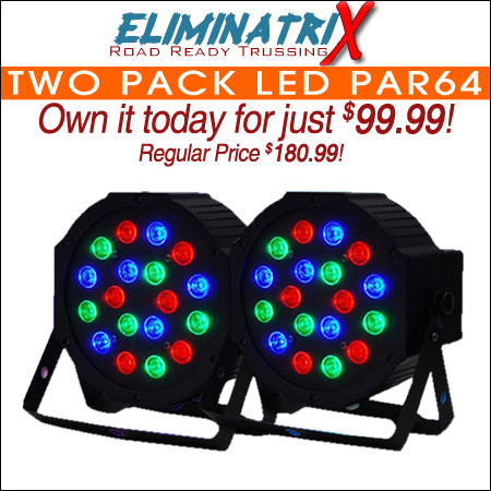 Two Pack LED Par64