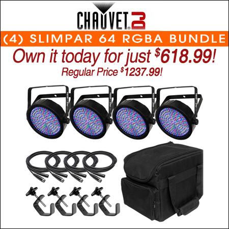 (4) Chauvet SlimPar 64 RGBA Bundle