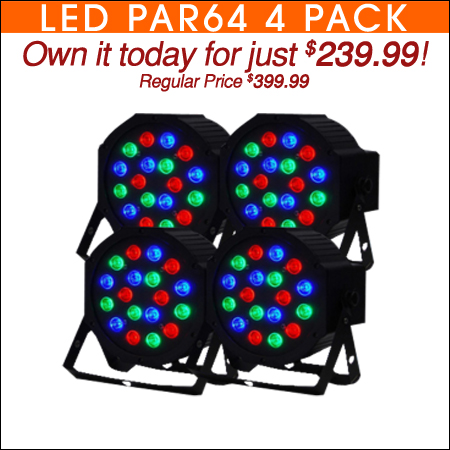 Four Pack LED Par64