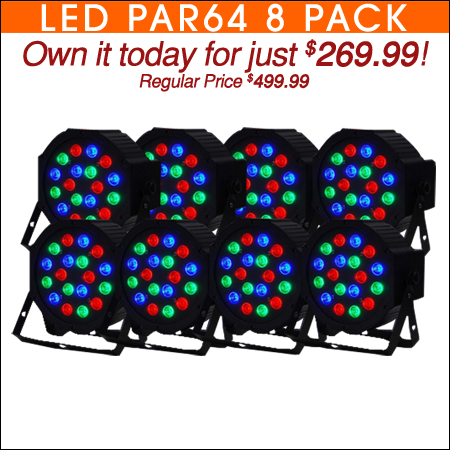 Eight Pack LED Par64