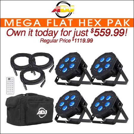American DJ Mega Flat Hex Pak