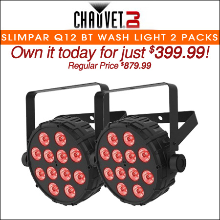 Chauvet DJ SlimPAR Q12 BT Wash Light 2 Packs